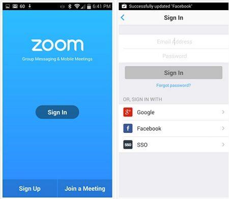 zoom cloud meetings for iphone