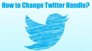 How To Change Twitter Handle