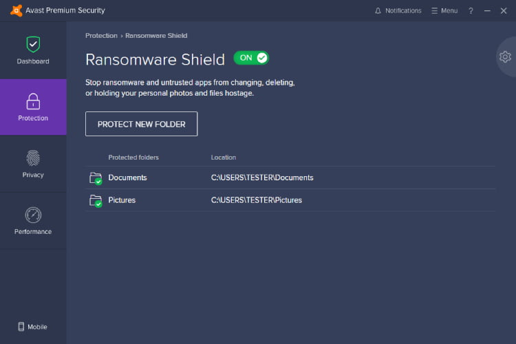 Avast Ransomware Shield