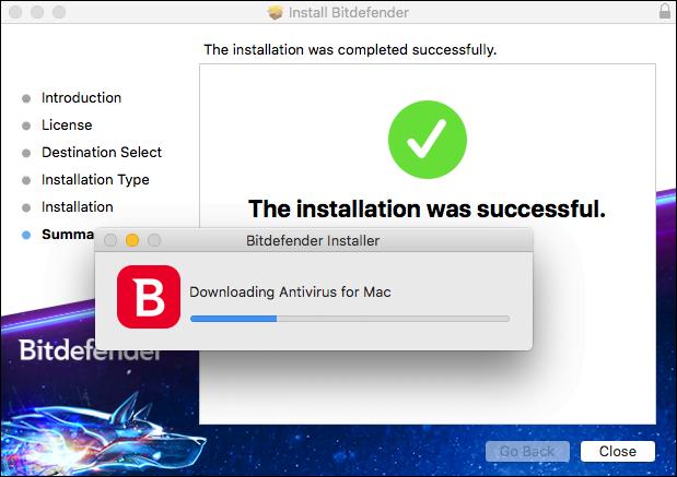 Bitdefender installation 1