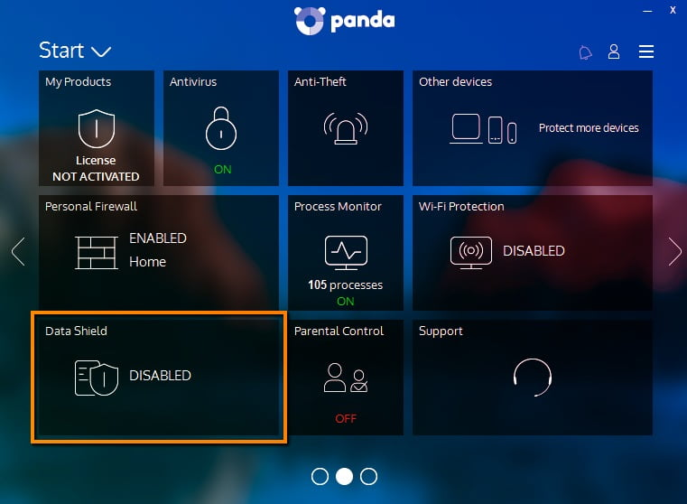 Panda Dome interface