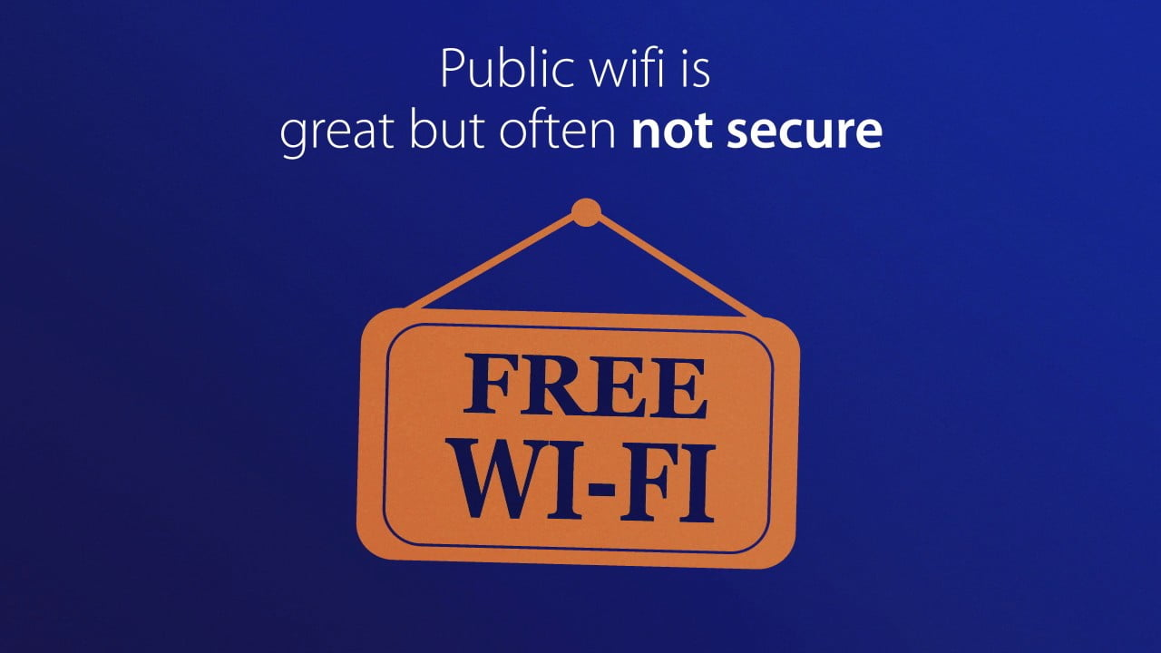 Avoid public Wi-Fi with your mobile phone