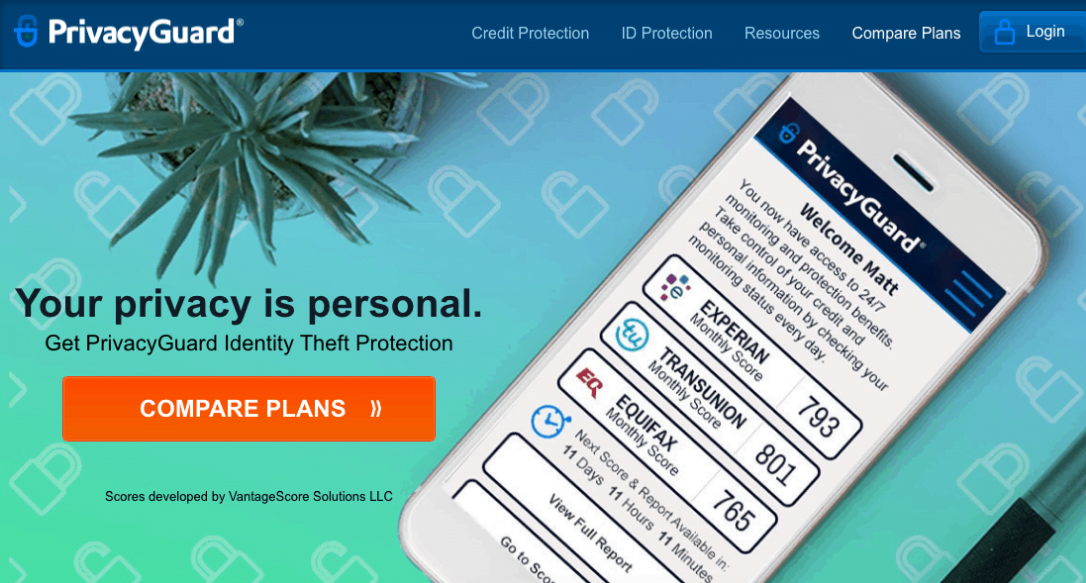 PrivacyGuard homepage